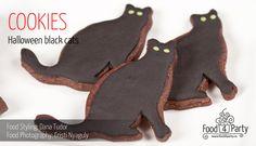 Biscuiti Black Cats de Halloween | food4party