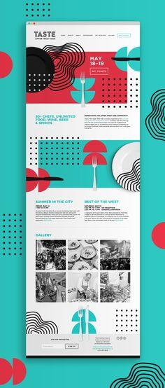 Taste of the Upper West Side : ? Taste of the Upper West Side Layout Design, Design Ios, Web Layout, Interface Design, Page Design, Blog Design, Good Web Design, Web Design Color, Web Design Mobile