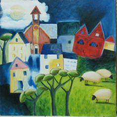 pieter van der westhuizen African Colors, South African Artists, Various Artists, Home Art, Folk, Art Houses, Arts And Crafts, Van, Colours