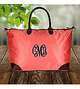 Personalized Large  weekender/Shopping Bag/Tote Bag/handbag by sewsassybootique on Etsy