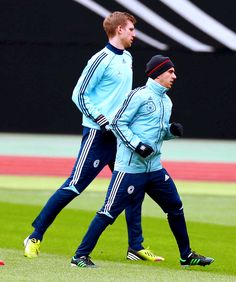Per Mertesacker and Philipp Lahm - the tallest and the shortest player of the German National Team