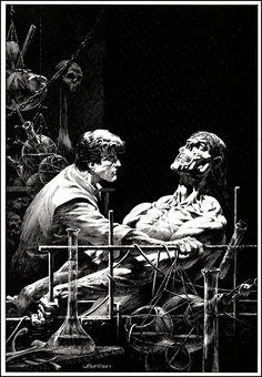 The Golden Age: Berni Wrightson illustrating Frankenstein by Mary Wollstonecraft Shelley