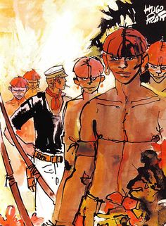 Hugo Pratt - Corto Maltese: The Lagoon of Mysteries Comic Book Artists, Comic Artist, Comic Books, Maltese, Hugo Pratt, Bd Art, Will Eisner, Book Creator, Storytelling