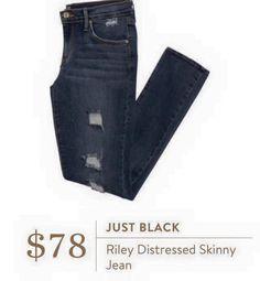 Stitch Fix: Just Black Riley Distressed Skinny Jean $78