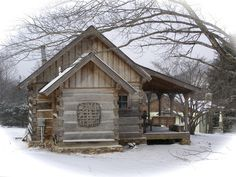 "A Northern Cabin: Half-dovetail construction; built originally about 1850 in ""Big Ivy"" a mountain settlement some 25 miles northeast of Asheville, NC adjacent to the national forest!"