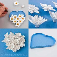 3D fleurs frangées papier quilling fichiers DXF par PaperZenShop