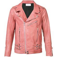 John Elliott - straps detail biker jacket - men -... ($1,610) ❤ liked on Polyvore featuring men's fashion, men's clothing, men's outerwear, men's jackets, mens moto jacket, mens leather biker jacket, mens polyester jackets and mens jackets