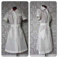 Vintage 1950's 60's Women's White Nurses Uniform by pursuingandie, $52.99