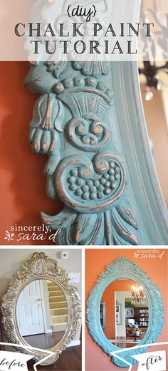 Chalked DIY Shabby Chic Décor: Victorian Mirror                                                                                                                                                                                 More