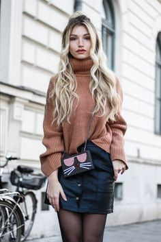 streetstyleci … fashion inspired by the people on the street franziska-elea … – Best Fall Season Outfits & Dresses Casual Skirt Outfits, Rock Outfits, Winter Outfits, Fashion Outfits, Womens Fashion, Denim Mini, Fashion Blogger Style, Boating Outfit, Costume
