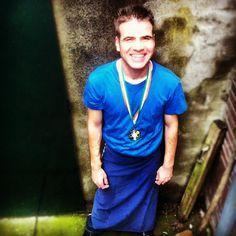 Timo met zijn behaalde judo medaille uit Dublin