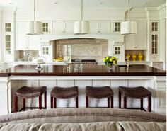 South Shore Decorating Blog: Beauftiful White Kitchens: Always in Style