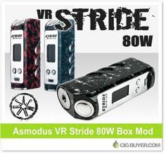 Asmodus VR Stride 80W Mod – $62.99: http://www.cigbuyer.com/asmodus-vr-stride-80w-box-mod/ #ecigs #vaping #asmodus #vrStride #boxmod #vapelife #vapedeals