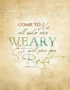 Rest -- scripture reference