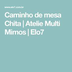 Caminho de mesa Chita   Atelie Multi Mimos   Elo7