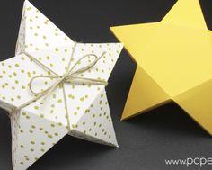 caja de cartulina facil con forma de estrella plantilla gratis star box printable