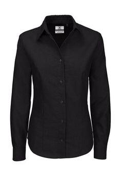 Camicia donna Oxford Manica lunga Tinta unita anche taglie forti 3XL 4XL 5XL 6XL