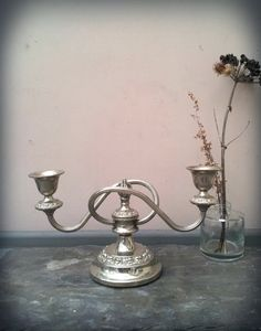 Vintage Silver Candelabra French Chateau Style by ArthouseAttic