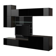 besta tv panel with media storage brown high gloss » BESTA TV panel with media storage by IKEA of Sweden post photo