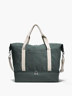 The Catalina Deluxe Large - Large Canvas Weekender - Forest Green - Designed by Lo & Sons #loandsons