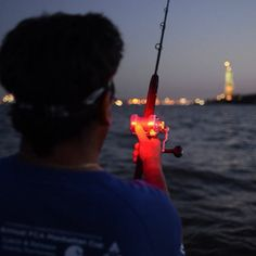 We went fishing so obviously we brought a few lights. Is that our headlamp lighting up the Statue of Liberty?