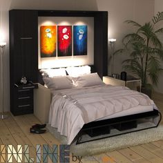 NEW: InLine Murphy Bed with Hutch and InLine Sofa by BredaBeds