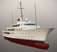 McPherson Yacht Design, a small, dynamic design studio based in Ripley, UK., have unveiled a classically styled 116 metre vessel. The inspiration behind this design was clearly . Yacht Design, Boat Design, Big Yachts, Luxury Yachts, Yacht Boat, Boat Dock, Jet Ski, Lucas Gabriel, Utility Boat