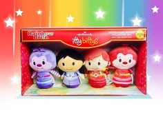 The 4 Character Collector Set of Rainbow Brite itty bittys are in Hallmark stores now! This set includes Red Butler, Romeo, Indigo and Hammy.