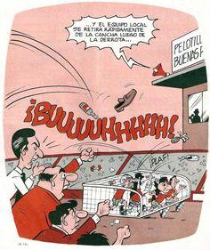 Condorito: Y el equipo local se retira rápidamente de la cancha luego de la derrota....
