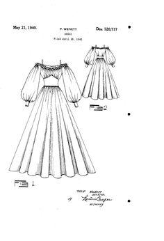 1940 DESIGN FOR A DRESS  Philip Wenett