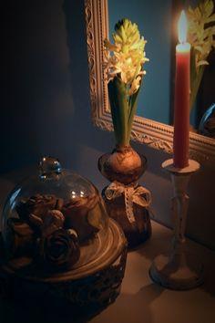 Waiting for Christmas, white hyacint, Joulun odotusta, valkoinen hyasintti, homedecor