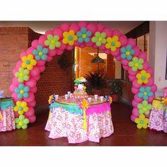 fiestas y detalles la novena: decoración con arcos en globos