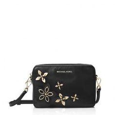 MICHAEL Michael Kors Black Leather Camera Bag - 40% Off