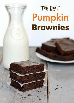 The Best Pumpkin Brownies | Real Food Real Deals
