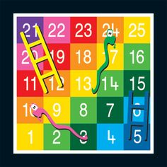 Snakes and Ladders Playground Marking