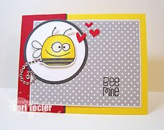 Bee Mine card-designed by Lori Tecler/Inking Aloud-stamps from Paper Smooches