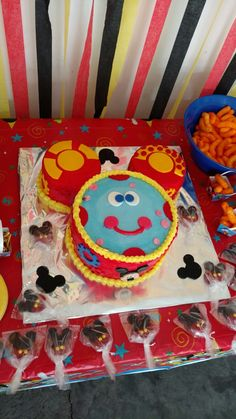 Toodles from Mickey Mouse Clubhouse Birthday Cake - buttercream icing with fondant accents