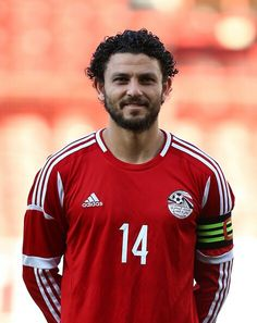 Hossam Ghaly Photos - Hossam Ghaly Egypt during the International Friendly match between Jamacia and Egypt at The Matchroom Stadium on June 2014 in London, England. - Jamaica v Egypt Football Player Drawing, Al Ahly Sc, First Football, Sports Clubs, Football Players, Premier League, Jamaica, Tops, London England