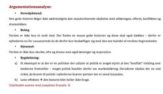 Argumentationsanalyse af Ulrik Haagerup - yeeeaaaaarrrr :D (Samme med Josephine Franzén)