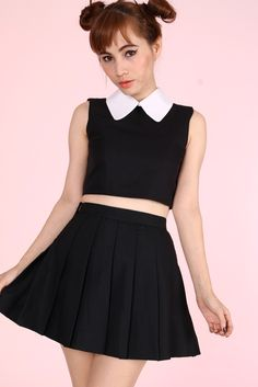 Image of Pre Order - As If Sleeveless Set in Black  http://gfdstore.bigcartel.com/product/pre-order-as-if-sleeveless-set-in-black