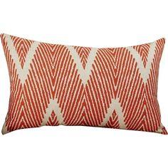 Mistana Cherita Cotton Throw Pillow Color: Coral / Taupe, Size: H x W Orange Throw Pillows, Chevron Throw Pillows, Modern Throw Pillows, Outdoor Throw Pillows, Decorative Throw Pillows, Contemporary Pillows, Pillow Reviews, Cotton Pillow, Throw Pillow Covers