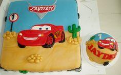 cars taart met meptaartje