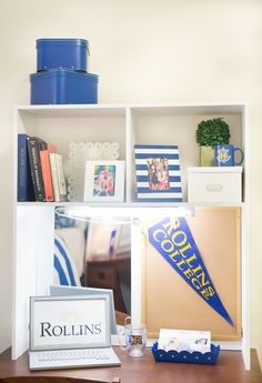 Great White Desk Cubby At Rollins College. Iu0027d Get A Kansas Banner! Photo Gallery