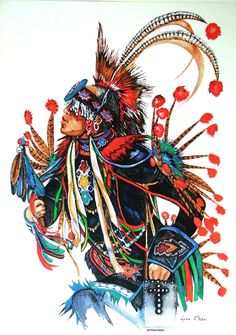 Vintage Silkscreen Quot Eagle Dancer Quot By Potawatomi Indian