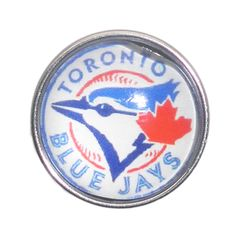 Show your support for the Blue Jays with this Toronto Blue Jays inspired snap button charm!