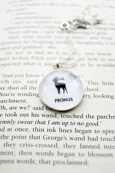 Prongs  Harry Potter Fandom Necklace Curious by CuriousOwlDesign, £7.99