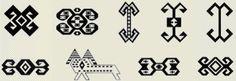Ram's Horn - アナトリアの織物のさまざまな羊の角の図です。