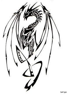Tribal dragon designs   Tribal Dragon 2 by Ruth-Tay on deviantART