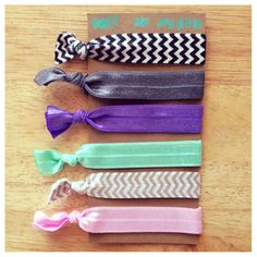 Elastic Hair Ties  *Call Me Maybe set* by InADreamBoutique on @Etsy