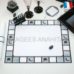 Set de table cinéma pour une ambiance Hollywoodienne,